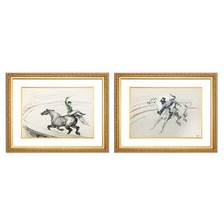 1950s Vintage Henri De Toulouse-Lautrec Limited Edition Circus Series Prints - A Pair For Sale