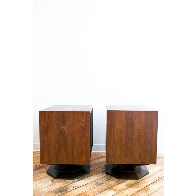 Paul Evans Style Mid-Century Brutalist Pedestal Night Stands- A Pair - Image 4 of 9