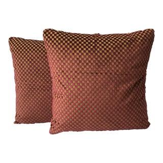 Custom Velvet Decorative Pillows - A Pair For Sale