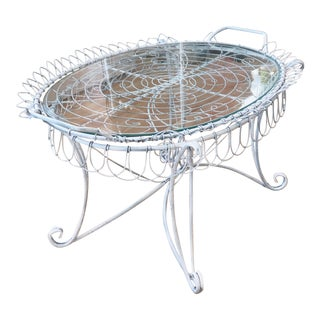 Shabby Chic Wire Tray Table For Sale