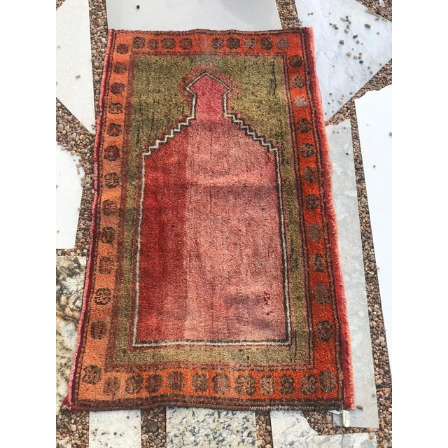 """Hand Made Vintage Small Turkish Runner- 2'1"""" X 4'5"""" For Sale - Image 4 of 10"""