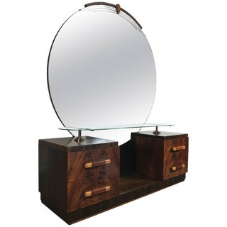 American Art Deco Vanity / Dressing Table in the Manner of Donald Deskey For Sale