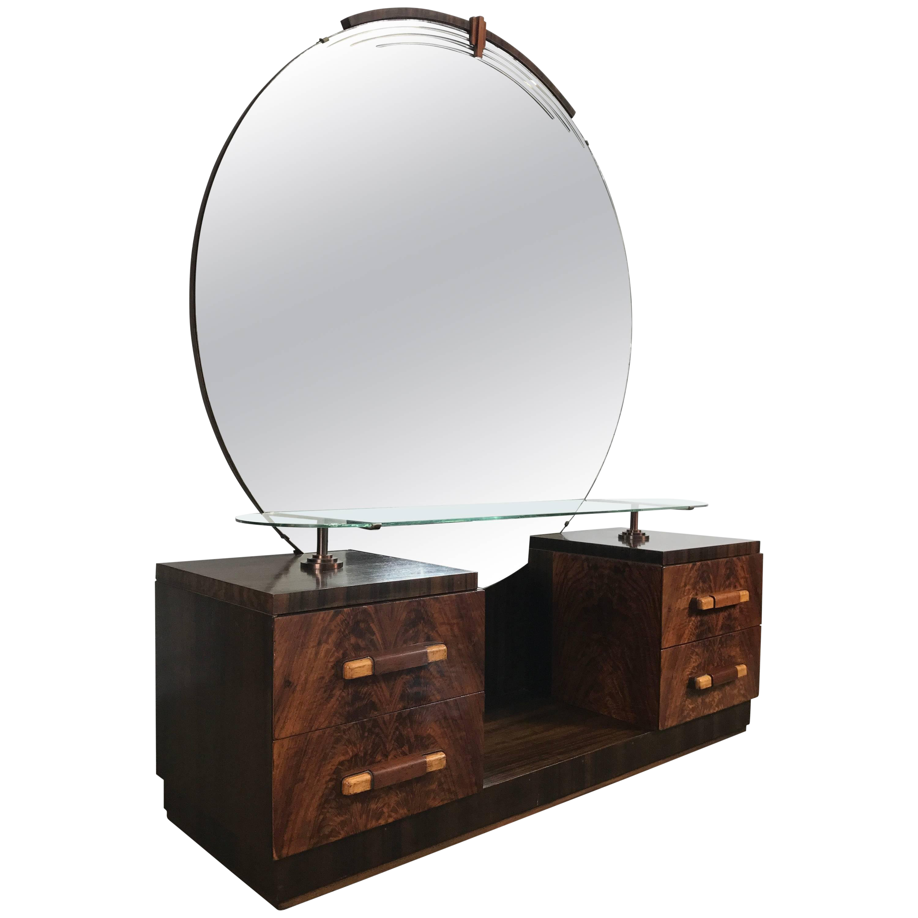 American Art Deco Vanity / Dressing Table In The Manner Of Donald Deskey