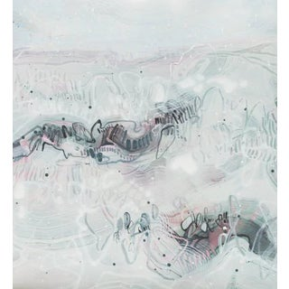 "Dana Oldfather ""Dunes 2"" Neutral Abstract Painting on Paper, 2019 For Sale"