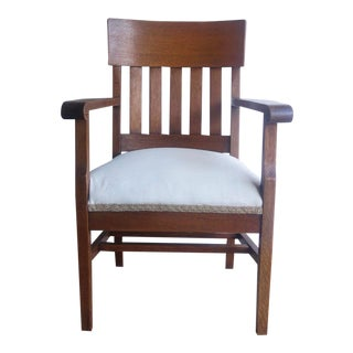 Arts & Crafts Style Accent Chair For Sale