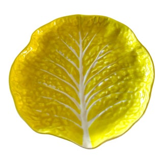 Vintage Yellow Cabbage Decorative Plate For Sale