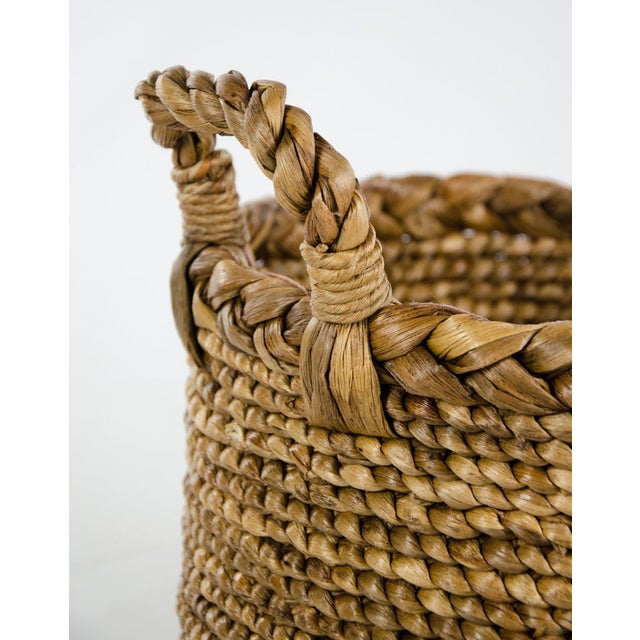 2000 - 2009 Woven Seagrass Handled Basket For Sale - Image 5 of 8