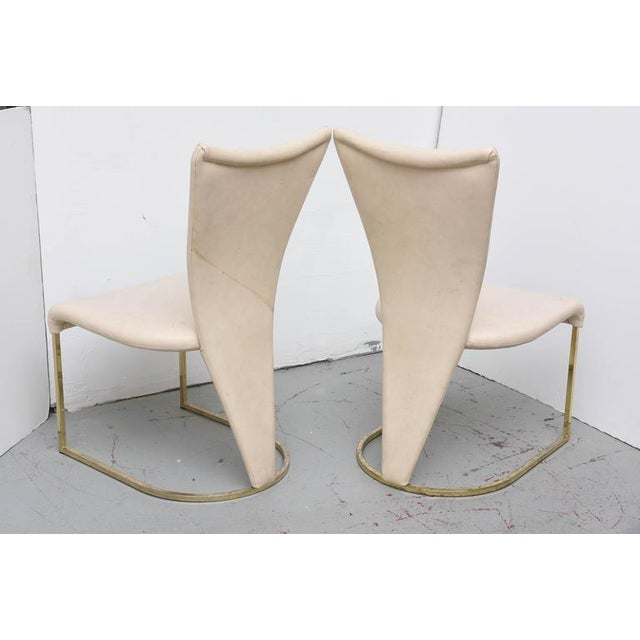 Design Institute of America Post-Mod Brass Dining Chairs, Set of Four, 1980s For Sale In Miami - Image 6 of 10
