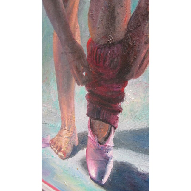 'La Ballerina II' Signed Original Painting by Dario Campanile For Sale - Image 4 of 10
