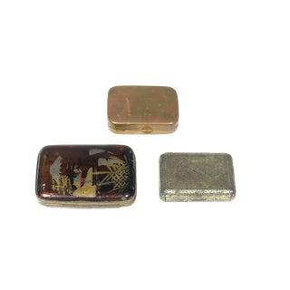 Petite Vintage Pocket Boxes - Set of 3 For Sale