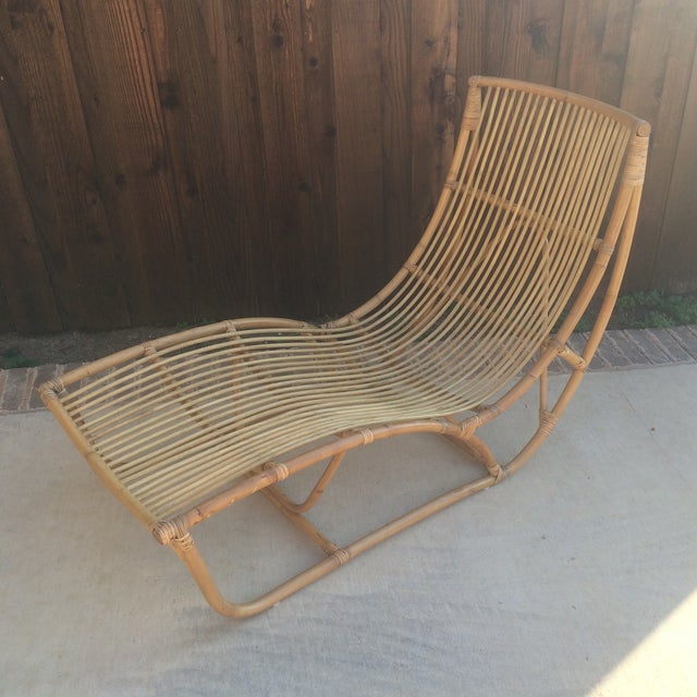 Fabulous, versatile and very on trend new Albini style rattan/ wicker/ bamboo lounge chair. Add a cushion or a fluffy rug...