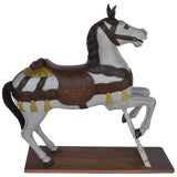 Image of Painted Wooden Carousel Horse For Sale