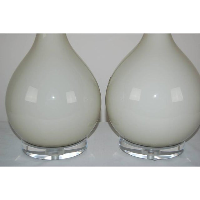 Murano Vintage Murano Glass Long Neck Table Lamps Gray For Sale - Image 4 of 9