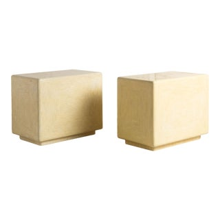 Tessellated Bone Side Tables by Enrique Garcel, Pair For Sale