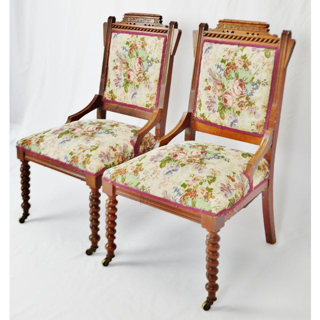 Victorian Eastlake Side Chairs - a Pair For Sale In Philadelphia - Image 6 of 13
