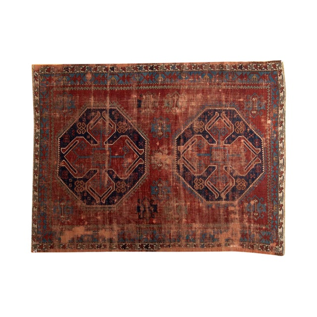 "Vintage Caucasian Carpet - 5'8"" X 7'6"" - Image 1 of 9"