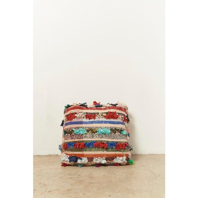 Moroccan Multicolor Floor Cushion Pouf - Image 2 of 4