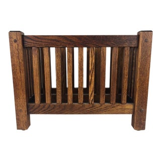 Mission Style Magazine Rack For Sale