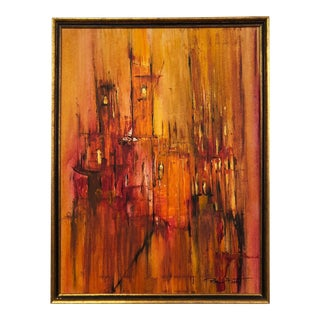 Rita Frost Abstract Mid Century Painting For Sale