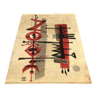 1960s Mid Century Modern Marc Saint Saens Tapestry For Sale