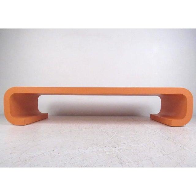 Vintage Modern Karl Springer Style Coffee Table For Sale - Image 4 of 10