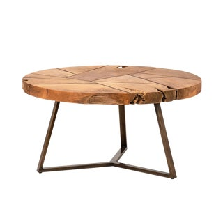 Teak Root Fragments Coffee Table For Sale