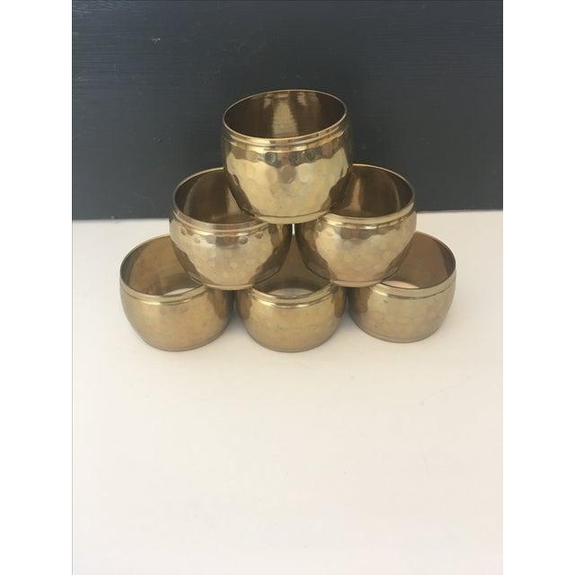 Vintage Brass Napkin Rings - Set of 6 - Image 2 of 4