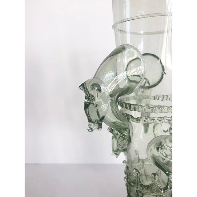1940s Venetian Glass Beaker Featuring Wild Boar Motif For Sale - Image 5 of 6