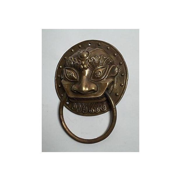 Brass Foo Dog Door Knocker - Image 4 of 5
