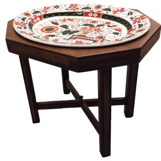 Antique Ashworth Imari Ironstone and Mahogany Tray Table For Sale