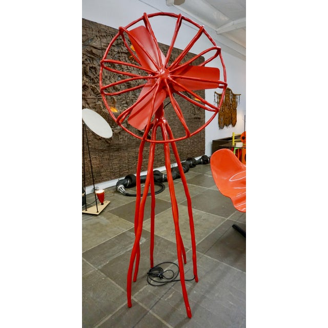 Red Contemporary Functioning Clay Fan Sculpture by Maarten Baas For Sale - Image 8 of 9