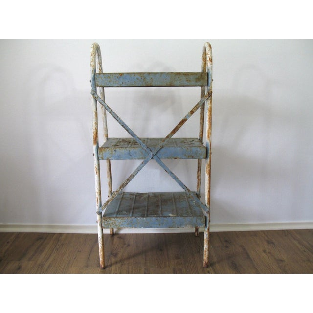 Antique Industrial Metal Shelves - Image 2 of 5