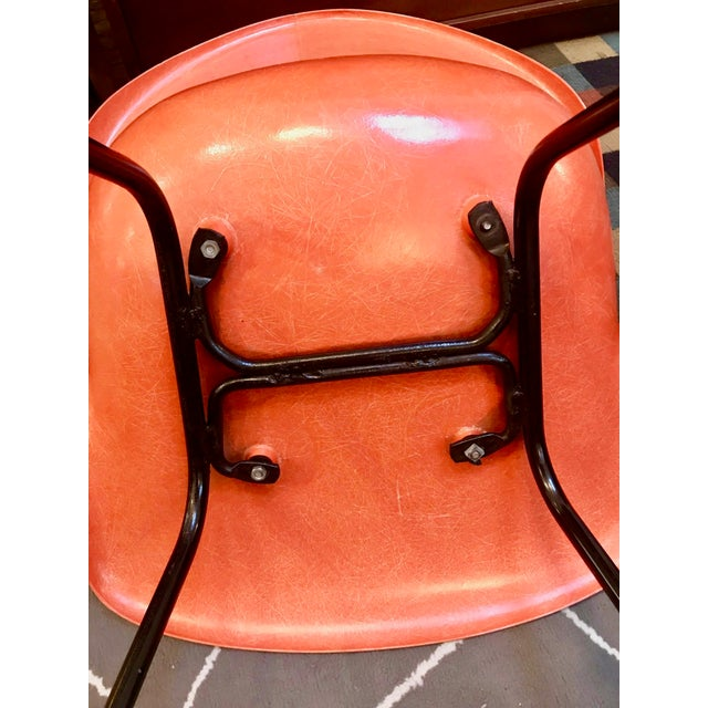 Mid Century Modern Fiberglass Shell Armchair by Cole Steel Co.-1950's For Sale In Boston - Image 6 of 7