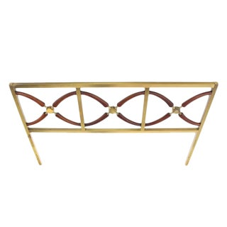Very Brass and Walnut Queen Size Headboard Bed