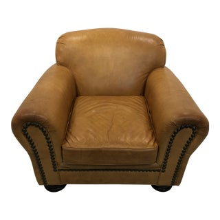 Vintage Hancock & Moore Leather Club Chair For Sale