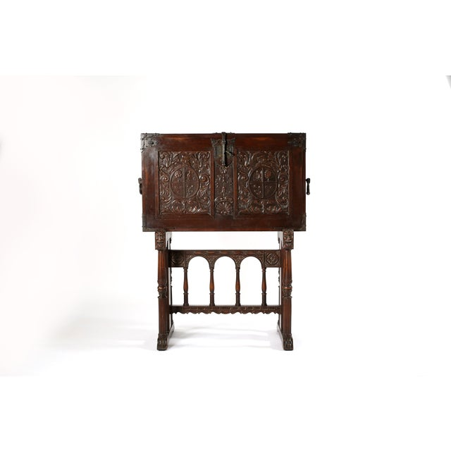 8th Century Baroque Style Cabinet on Stand / Bargueno / Vargueno For Sale - Image 12 of 13