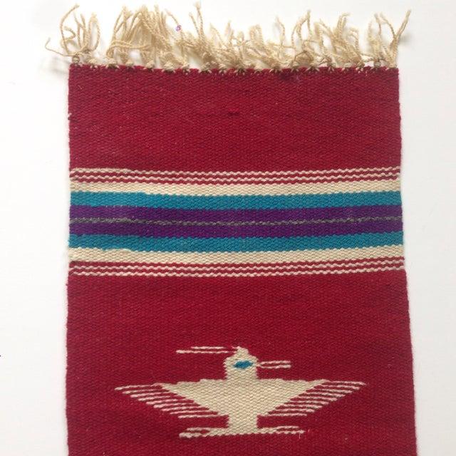 Handwoven Navajo Style Wall Hanging Rug - Image 4 of 11