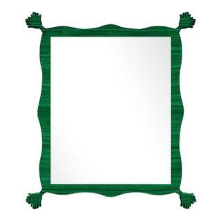 Fleur Home x Chairish Iko Iko Rectangle Mirror in Malachite, 39x51 For Sale