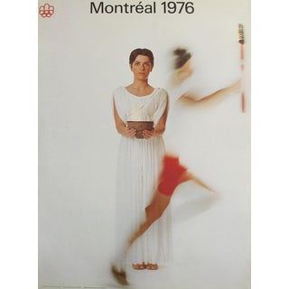 1976 Montreal Olympics Poster - Woman With Flame (Large) For Sale