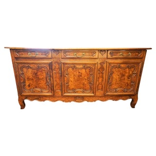19th Century French Burled Walnut Enfilade For Sale