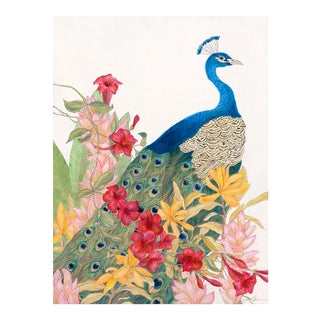 "Contemporary Allison Cosmos ""A Peacock's Paradise"" Painting For Sale"
