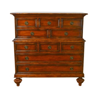 Baker Milling Road English Regency Inspired Chest on Chest For Sale
