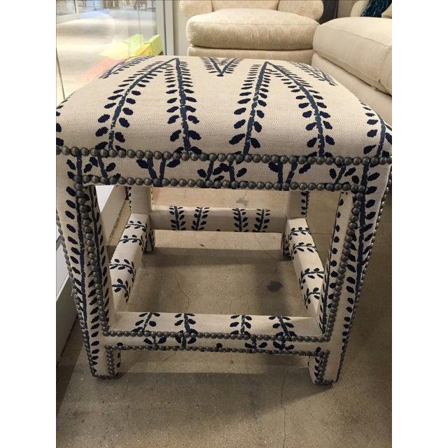 Custom Upholstered Lee Ottoman - Image 4 of 6