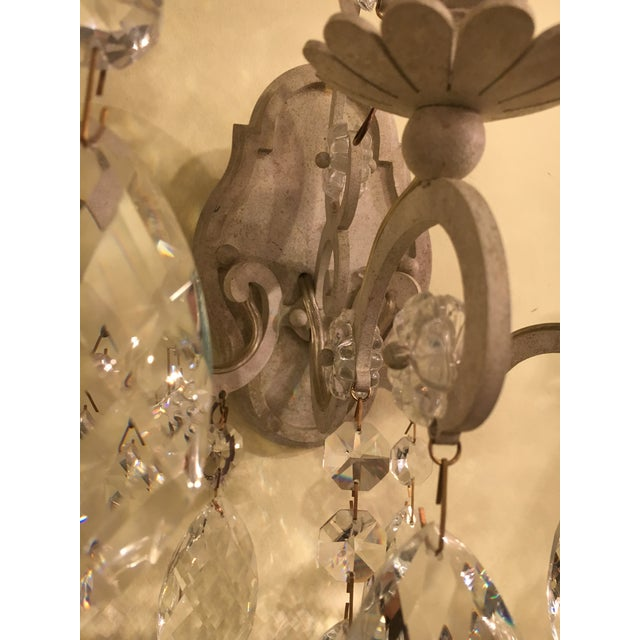 Schonbek Renaissance Style Three Light Wall Sconces- Set of Six For Sale In New York - Image 6 of 9