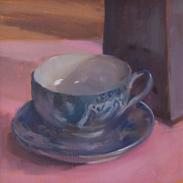 Painting of Teacup Willow Ware For Sale