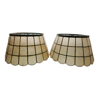 Capiz Shell Lamp Shades - a Pair For Sale