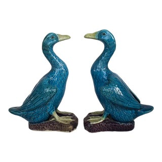Vintage Chinese Porcelain Ducks - a Pair For Sale