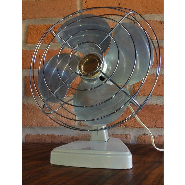 Metal Vintage Mid-Century Sears Electric Table Fan For Sale - Image 7 of 7