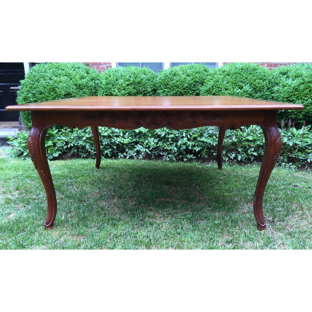 French Louis XV-Style Square Dining Table - Image 3 of 7