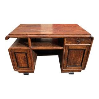 Antique Asian Elm Executive Desk For Sale